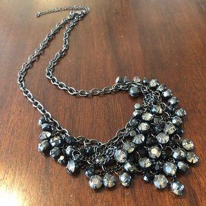 "Jewelry - 18-21"" Adjustable Black Rhinestone Necklace"